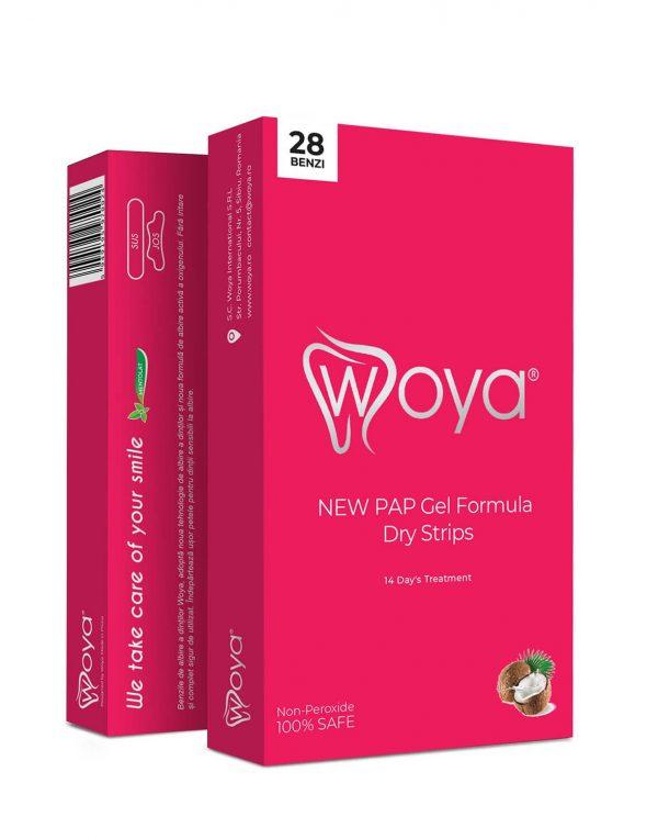 28 de benzi pentru albirea dintilor Woya